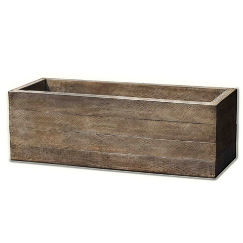 Barn Board Window Box - Planters - Outdoor Art Pros