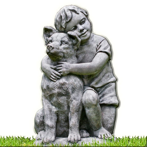 Best Buddies Cast Stone Garden Statue - Outdoor Art Pros