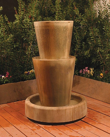 Bi Level Jug Garden Water Fountain - Fountains - Outdoor Art Pros