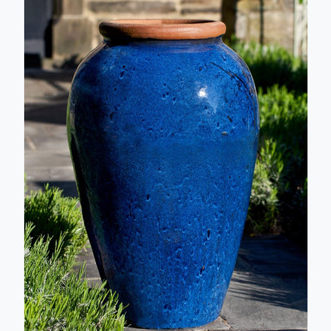 Binjai Jar in Rustic Blue - Outdoor Art Pros