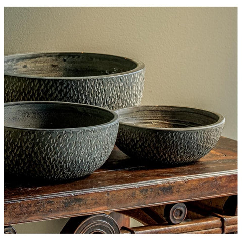 Bird Tracks Bowl Set of 18 - Outdoor Art Pros