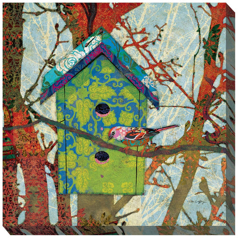 Birdie's Home Outdoor Canvas Art - Outdoor Art Pros
