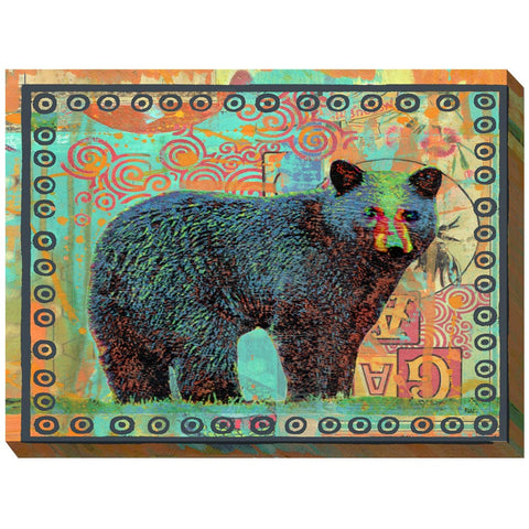 Black Bear Outdoor Canvas Art - Outdoor Art Pros