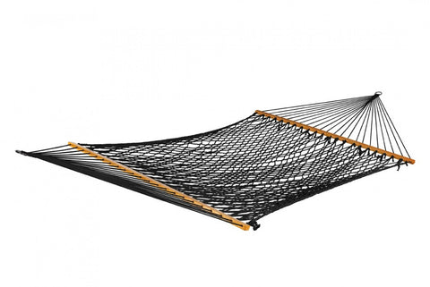 Bliss  2 Person Classic Cotton Rope Hammock (Black) - Outdoor Art Pros