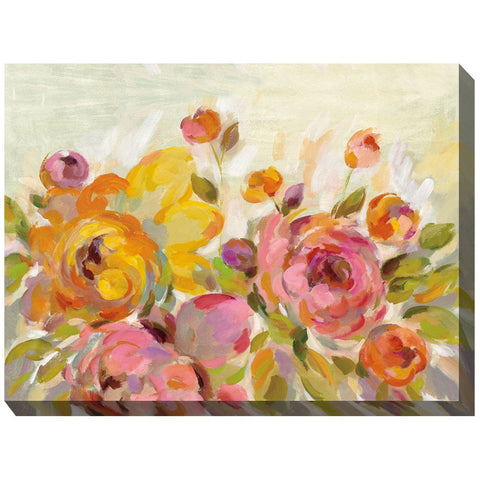 Blooming Color Outdoor Canvas Art - Outdoor Art Pros