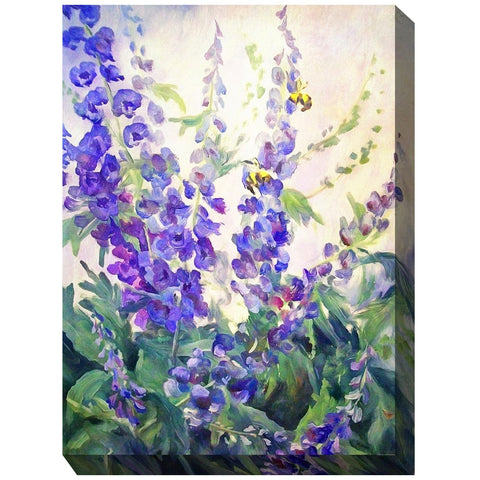 Blue Delphi Outdoor Canvas Art - Outdoor Art Pros