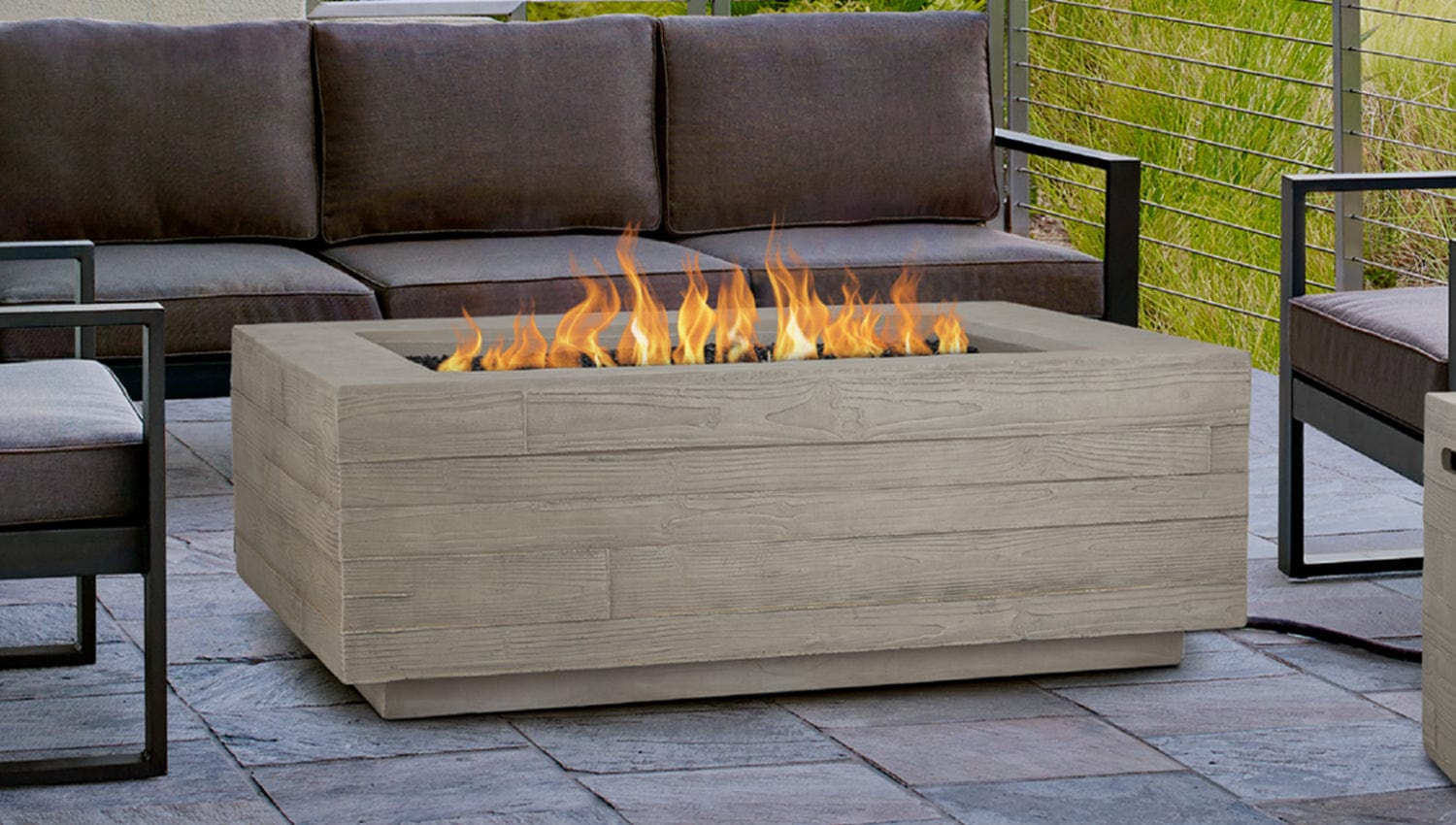 Picture of: Board Form Rectangle Fire Table