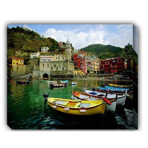 Boat In Vernazza Outdoor Canvas Art - Outdoor Art Pros