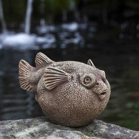 Bobby Blowfish Cast Stone Garden Statue - Outdoor Art Pros