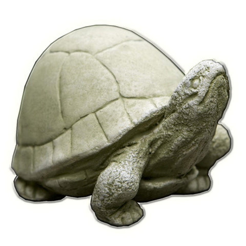 Box Turtle Cast Stone Garden Statue   Outdoor Art Pros