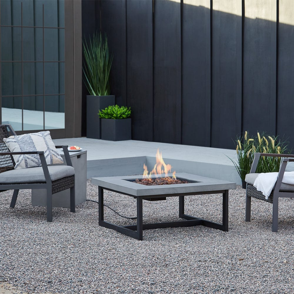 Brenner propane natural gas fire table outdoor art pros