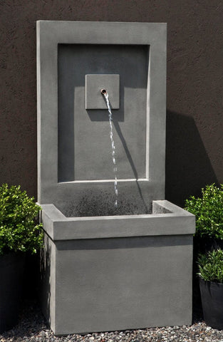 Brentwood Wall Outdoor Fountain - Outdoor Art Pros