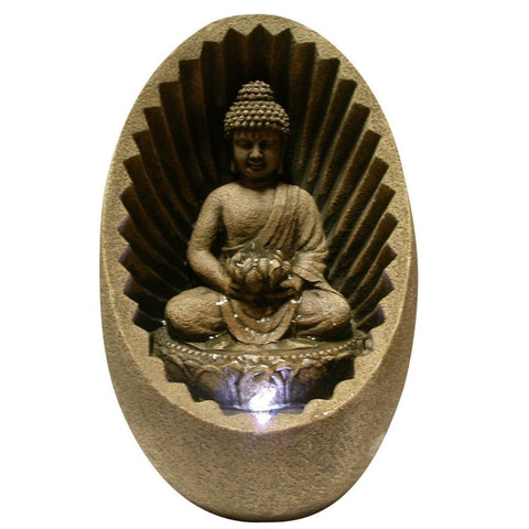 Buddha Tabletop Fountain With LED Light - Outdoor Art Pros