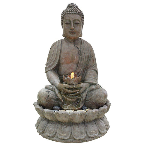 Buddha Water Feature With LED Lights - Outdoor Art Pros