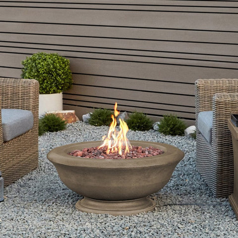 Treviso Round Gas Fire Bowl - Outdoor Art Pros