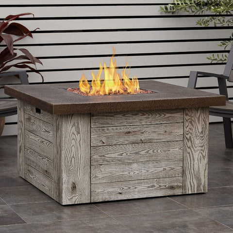 Forest Ridge Gas Fire Table - Outdoor Art Pros