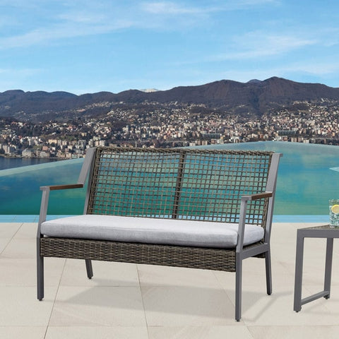 Calvin Love Seat in Gray - Outdoor Art Pros