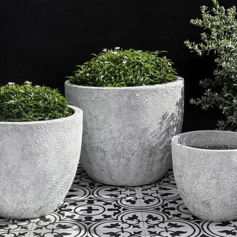 Caipirinha Planter Set of 3 in White Coral - Outdoor Art Pros