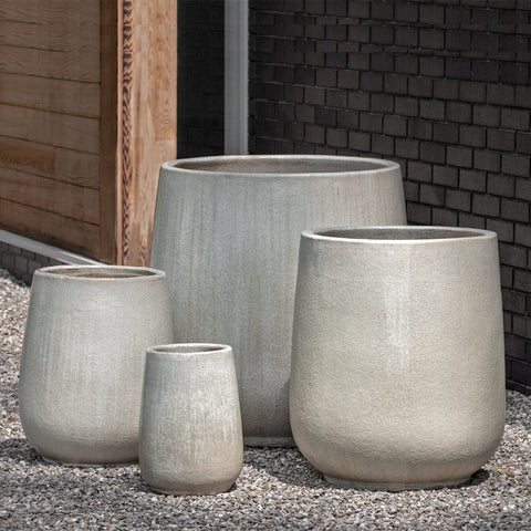 Caixa Planter Set of 4 in Antique Pearl - Outdoor Art Pros