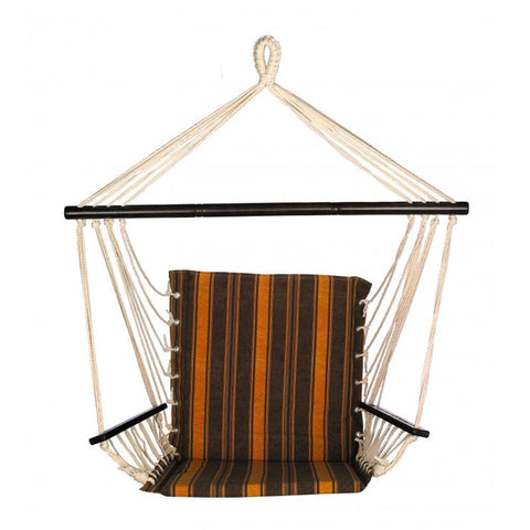 Bliss Metro Hammock Chair (Calista Cabernet Stripe) - Outdoor Art Pros