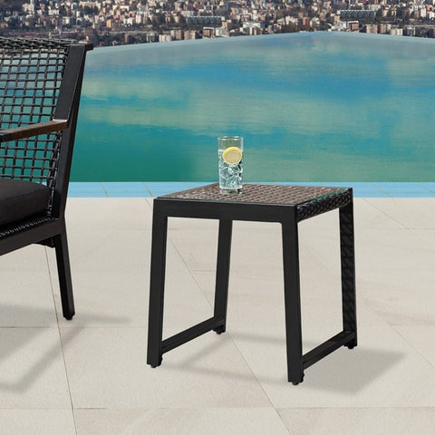 Calvin End Tables Set of 2 in Black - Outdoor Art Pros