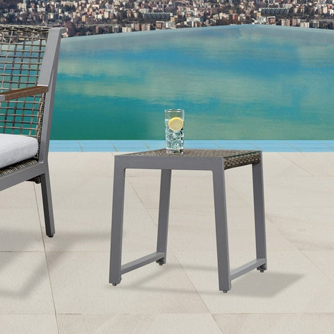 Calvin End Tables Set of 2 in Gray - Outdoor Art Pros