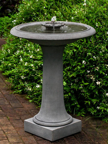 Camellia Birdbath Fountain - Outdoor Art Pros