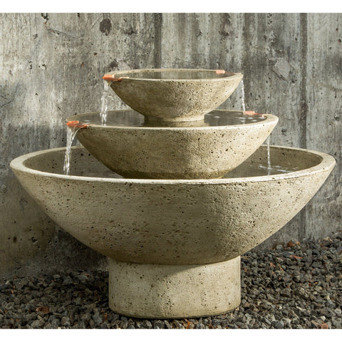Carrera Tiered Bowl Water Fountain - Outdoor Art Pros