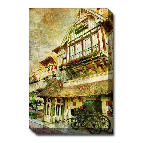 Carriage Inn Canvas Wall Art - Outdoor Art Pros