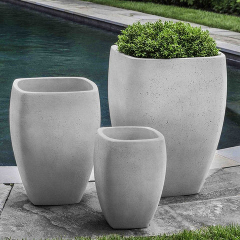 large cement planters. Cedros Planter In Playa Blanca - Set Of 3 Planters Outdoor Art Pros Large Cement