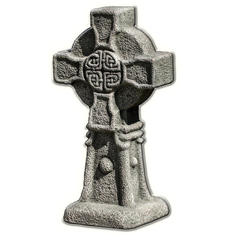 Celtic Cross Cast Stone Garden Statue - Outdoor Art Pros