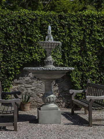 Charleston Tiered Outdoor Water Fountain - Outdoor Art Pros