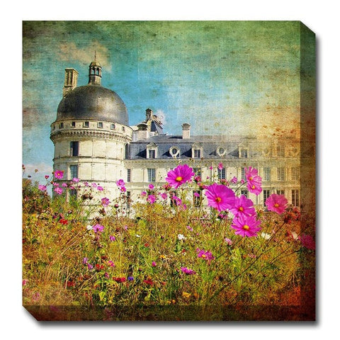 Chateau & Cosmos Canvas Wall Art - Outdoor Art Pros