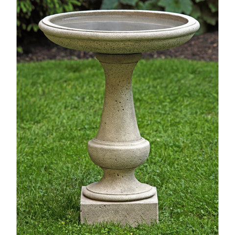 Chatham  Cast Stone Birdbath - Outdoor Art Pros