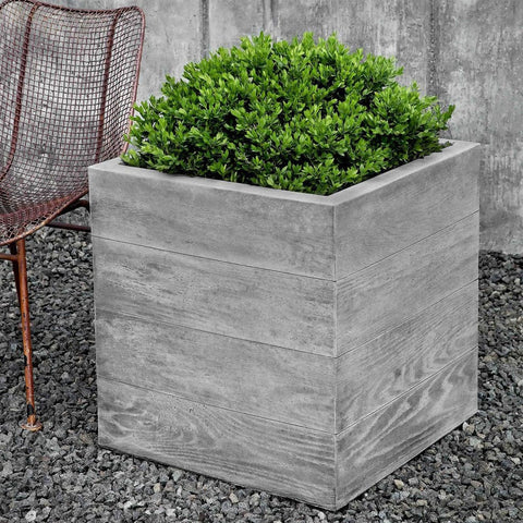 Chenes Brut Large Garden Box Planter - Planters - Outdoor Art Pros