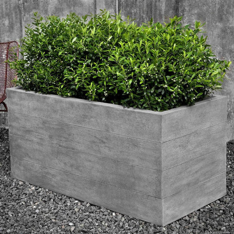 Chenes Brut Long Garden Box Planter - Planters - Outdoor Art Pros
