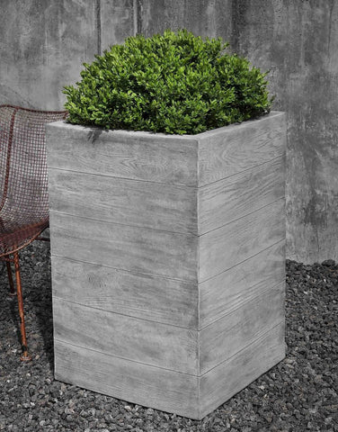 Chenes Brut Tall Garden Box Planter - Planters - Outdoor Art Pros