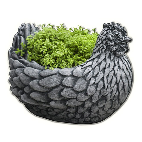 Chicken Cast Stone Garden Planter - Outdoor Art Pros