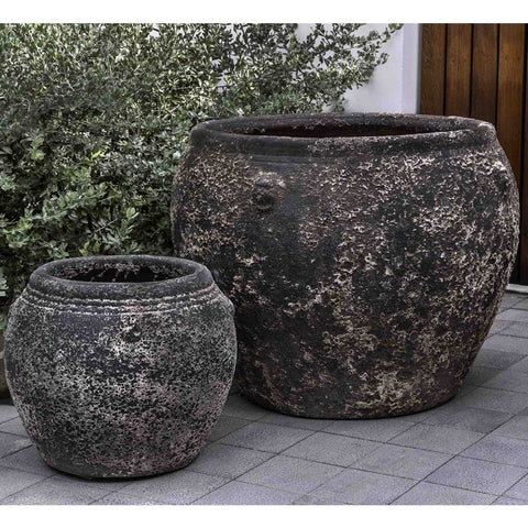 Chios Planter Set of 2 in Aegean - Outdoor Art Pros