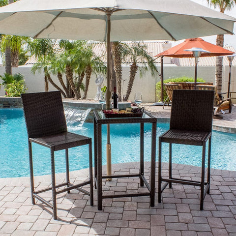 Chocolate Bistro Set - Outdoor Furniture - Outdoor Art Pros