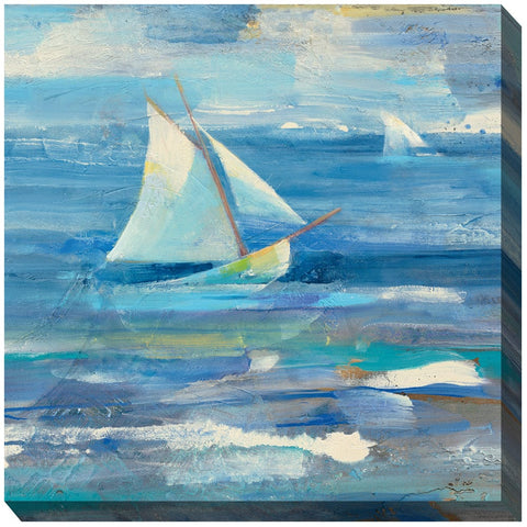 Choppy Waters Outdoor Canvas Art - Outdoor Art Pros