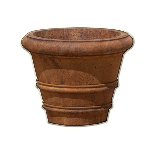 "Classic Rolled Rim 18.25"" Garden Planter - Planters - Outdoor Art Pros"