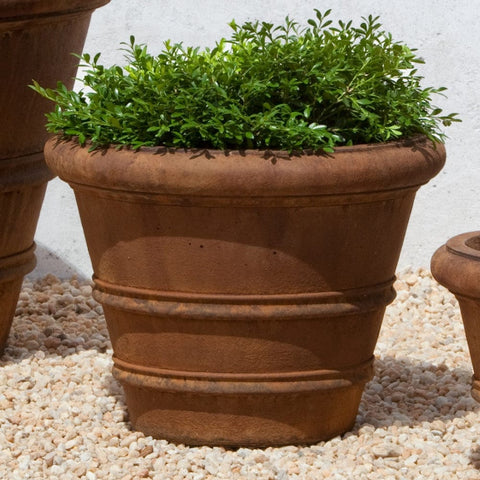 "Classic Rolled Rim 14.75"" Garden Planter - Planters - Outdoor Art Pros"