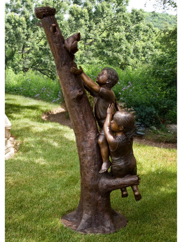 Climbing To The Rescue Brass Baron Sculpture - Brass Baron