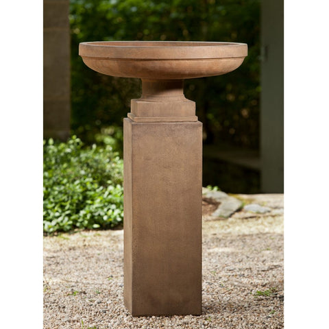 Cliveden Urn on Tall Square Pedestal - Outdoor Art Pros