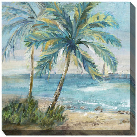 Coastal Palm 1 Outdoor Canvas Art - Outdoor Art Pros