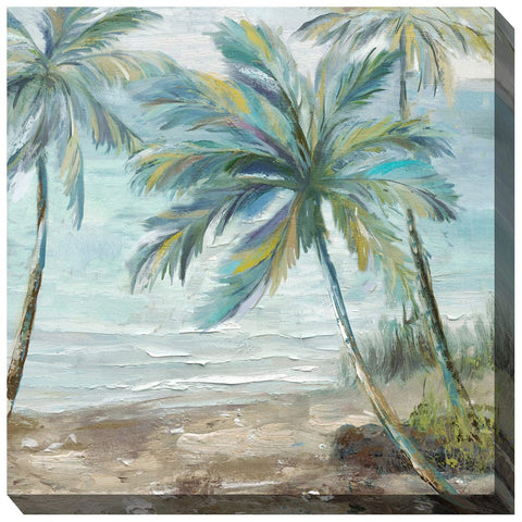 Coastal Palm 2 Outdoor Canvas Art - Outdoor Art Pros