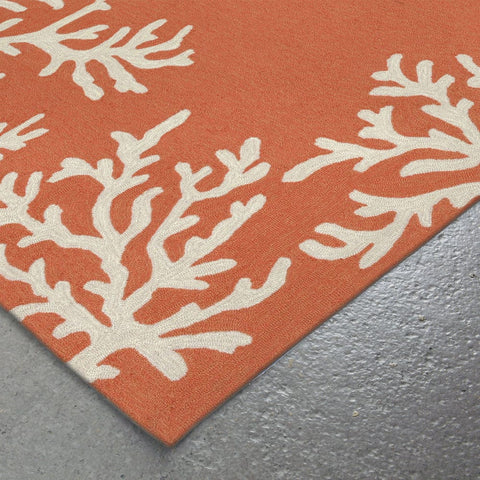 Coral Border in Coral Area Rug - Outdoor Art Pros