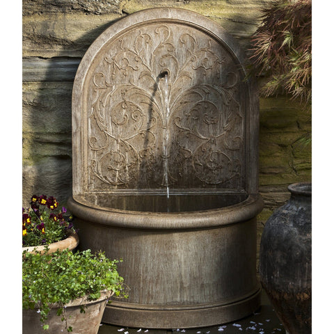 Corsini Arabesque Wall Water Fountain - Outdoor Art Pros