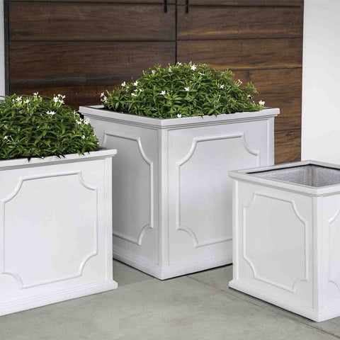 Cumberland Planter Set of 3 in Glossy White Lite - Outdoor Art Pros